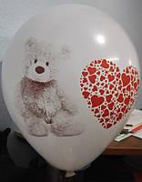 Печать на воздушных шарах комбинированная