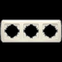 Тройная горизонтальная рамка VIKO Carmen Крем