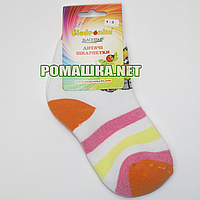 Детские махровые носки р. 92-98 для девочки 95% хлопок 5% эластан ТМ Biedronka 3366 Оранжевый