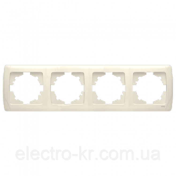 Четвірна горизонтальна рамка VIKO Carmen Крем