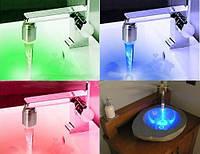 Насадка на Кран с LED Светодиодной Подсветкой Красный и Синий Цвет Water Glow
