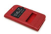 Чехол книжка Momax для Samsung Galaxy J1 J100h красный, фото 1