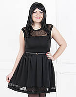 Стильное коктейльное платье разклешенное к низу больших размеров №180