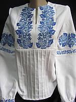 Очень красивая женская вышиванка в голубой гамме