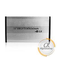 """Карман для HDD 2.5"""" USB 2.0 внешний (металлический кейс)"""