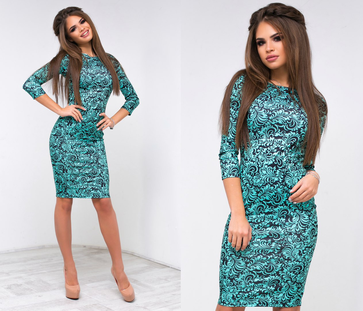2697ad84ca5 Молодежное платье французской длины - Интернет-магазин
