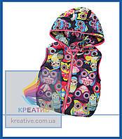 Жилет детский утеплённый с капюшоном (пошив под заказ от 50 шт.)
