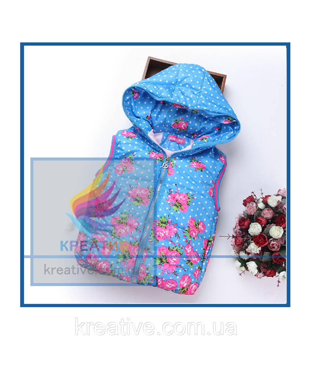 Детский теплый жилет с капюшоном (пошив под заказ от 50 шт.)
