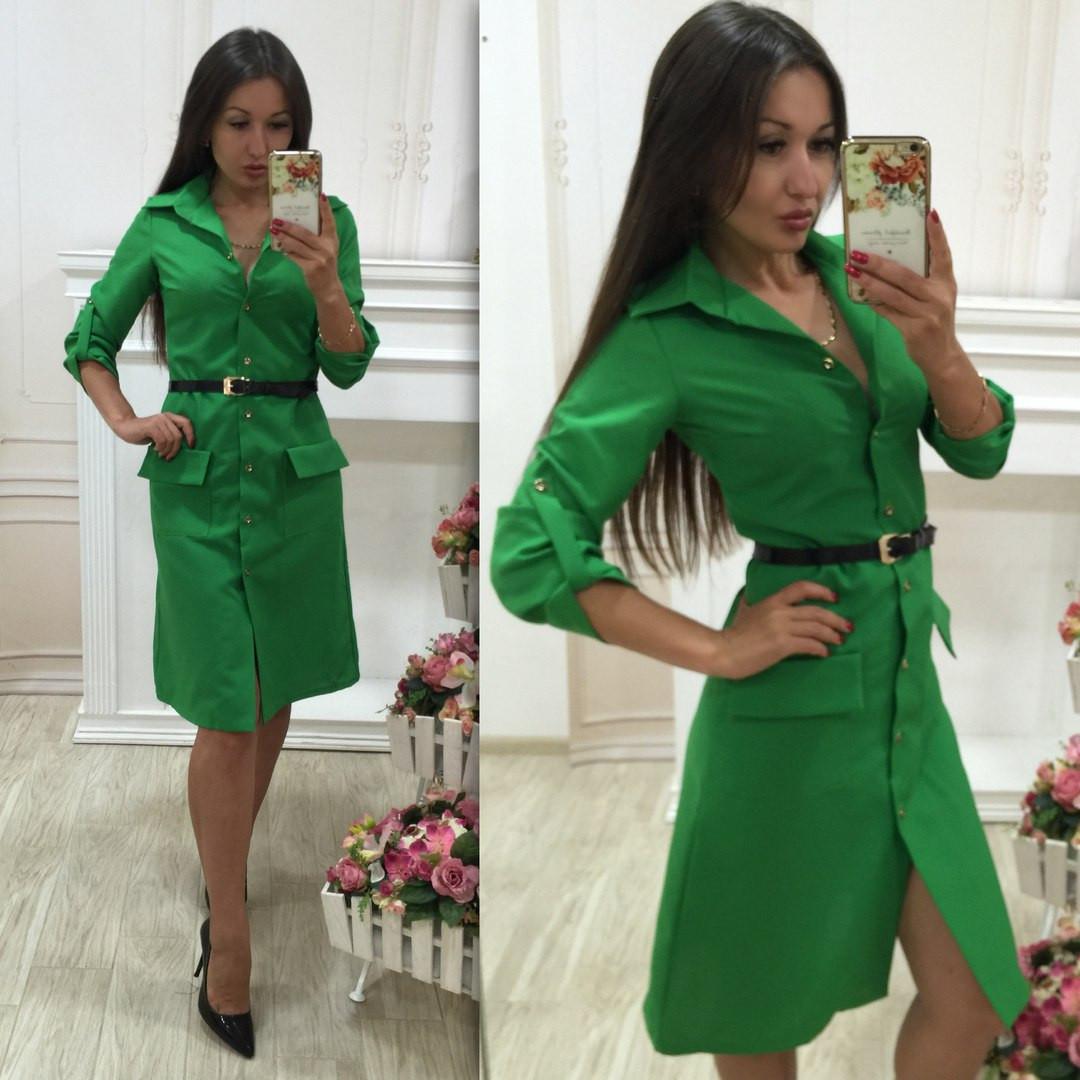 Модное зеленое платья фото