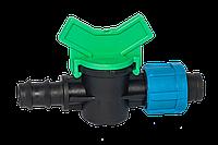Кран 16х17 мм переходной для садовой трубы и ленты SL-011-6