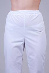 Коттоновый белые медицинские штаны, больших размеров