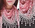 Прекрасный женский платок 140 на 40 Dress SL205_розов, фото 3