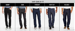 Описание популярных моделей джинсов Левис