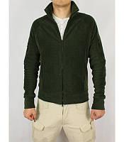 Мужская теплая кофта зеленого цвета