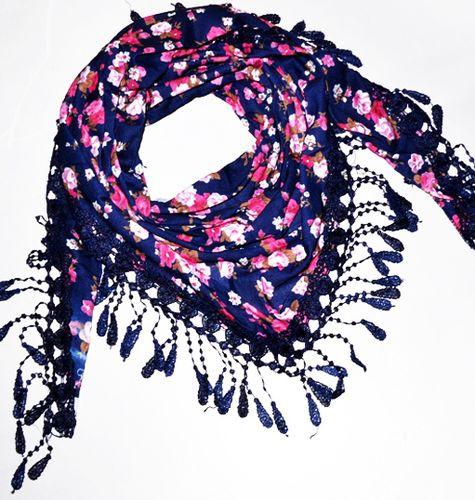 Особенный женский платок 160 на 55 Dress S255_фиолет