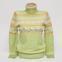 Теплый женский свитер р.44-46 с орнаментом снежинки B6-1