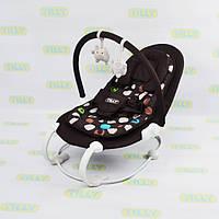 Шезлонг-качалка Baby Tilly дуга с игрушками  до 9 кг черный