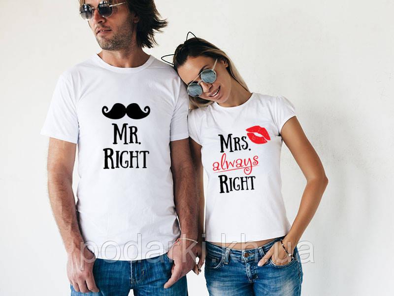 Парные футболки для влюбленных