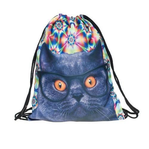 Молодежный рюкзак-мешок с Котиком