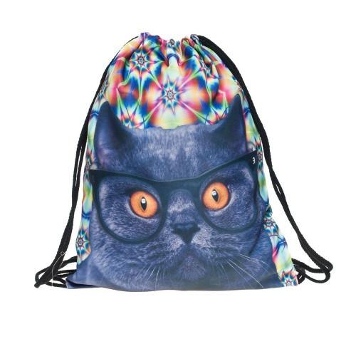 Школьный  рюкзак-мешок с Котиком
