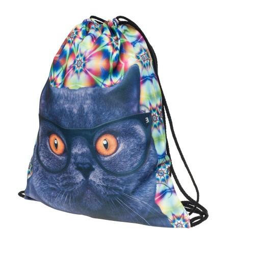 рюкзак для обуви с рисунком кота