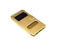 Чехол книжка Momax для Huawei P8 LITE золотистый