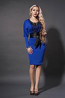 Платье женское мод№210-3 ,размер 52 электрик