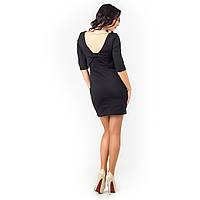 Мини платье с открытой спиной черное