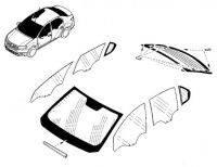 Стекло лобовое,боковое,заднее Renault-Dacia Logan,Sandero c 2013 г. Производитель:Тайвань.