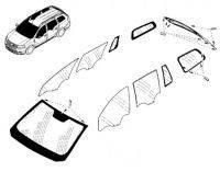 Стекло лобовое,боковое,заднее Renault-Dacia Logan MCV c 2013 г. Производитель:Тайвань.