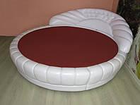 Круглая кровать. Простынь Модель 2 Винная