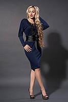 Платье женское мод№210-4 ,размер 40 темно синее