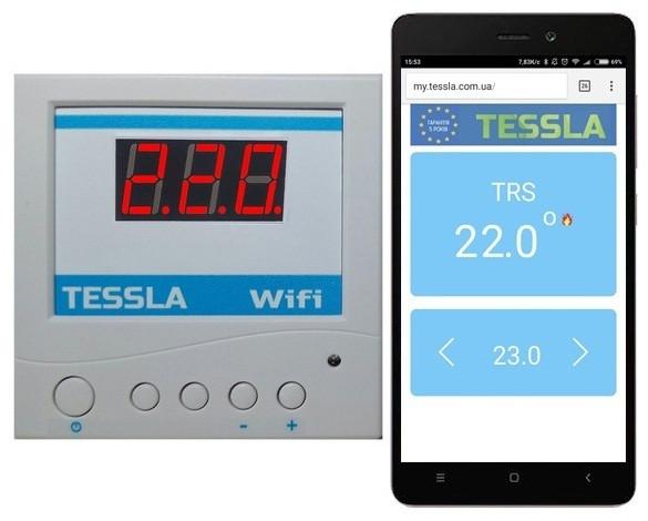 Система умный дом. Терморегулятор TESSLA TRS Wi-Fi дистанционный накладной