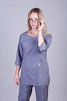 Серый женский медицинский костюм. Опт и розница