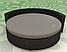 Черная Простынь на Круглую кровать Модель 2, фото 2