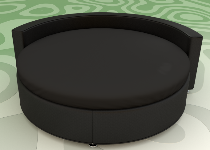 Черная Простынь на Круглую кровать Модель 2