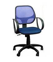 Кресло Бит/АМФ-8 сиденье Сетка синий/спинка Сетка синий.