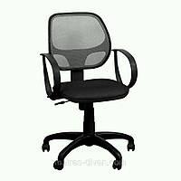 Кресло Бит/АМФ- 8 сиденье Сетка черная/спинка Сетка серый.
