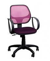 Кресло Бит/АМФ-8 сиденье Сетка бордовый/спинка Сетка бордовый.