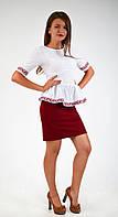 Модная женская нарядная блуза-вышиванка