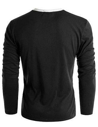 Пуловер мужской с карманом черный, фото 2