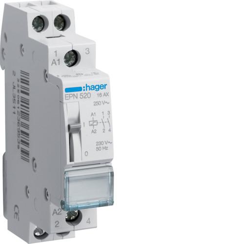 Импульсное реле 230В/16А, 2НО Hager EPN520