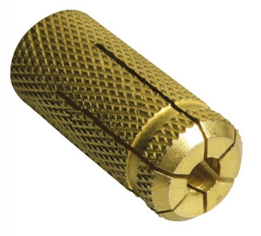 Анкер забивной латунный М6×25 d8 (100 шт/уп)