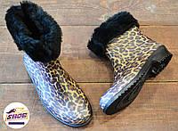 Леопардовые резиновые сапоги женские Litma с утеплителем, фото 1