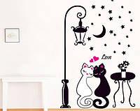 Декоративная наклейка Влюбленные коты