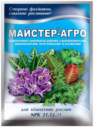 Комплексное минеральное удобрение Мастер-Агро (25 г) — для комнатных растений (NPK 21.12.21), фото 2
