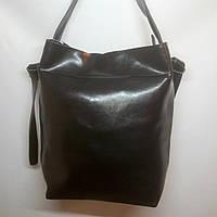 Кожаная сумка женская из натуральной кожи (Чёрная)