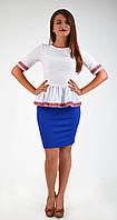 Красивая женская нарядная блуза-вышиванка