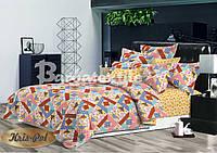 Комплект постельного белья 3D евро ранфорс, 100% хлопок. (арт.6627)