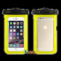 """Водонепроницаемый чехол для смартфонов до 5.5"""" Желтый"""